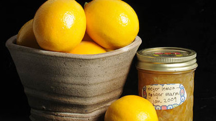 Meyer lemons with Meyer Lemon-Ginger Marmalade