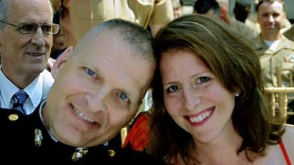 U.S. Marine Corps Lt. Col. Tim Maxwell  and wife Shannon