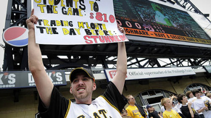 Andy Masarik, Highlands Middle School teacher,  expresses his displeasure at the Pirates decision to trade Nate McLouth.