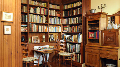 The library of the Goffs&#039;  farm house in Brighton Heights, which will be one of homes featured on the Brighton Heights house tour on Sunday, May 17.