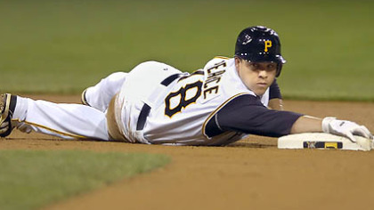 The Pirates optioned first baseman/outfielder Steve Pearce to Class AAA Indianapolis yesterday.
