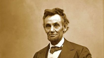 Abraham Lincoln early in his presidency.