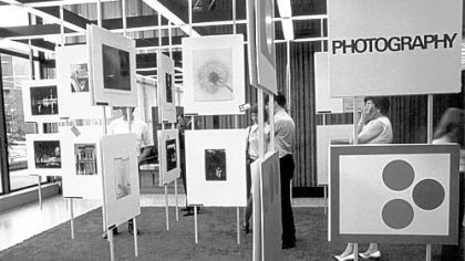 Photography display, 1972