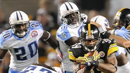 Steelers running back Willie Parker ran for 19 yards last week versus the Titans.