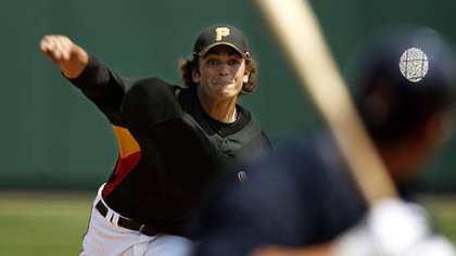 Pirates pitcher Virgil Vasquez was promoted from Class AAA Indianapolis yesterday.