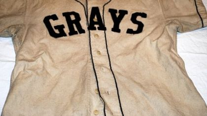 This shirt is part of one of only two Homestead Grays uniforms known to be in existence. It is on display at the John Heinz History Center's exhibit marking the 100th anniversary of Forbes Field.
