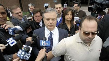 Vincent Fumo walks out of federal court in Philadelphia yesterday.