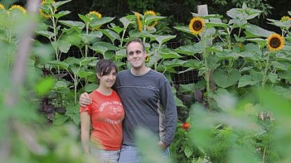 Tara Rockacy and Todd Pander at their home Churchview Farm, in Baldwin.