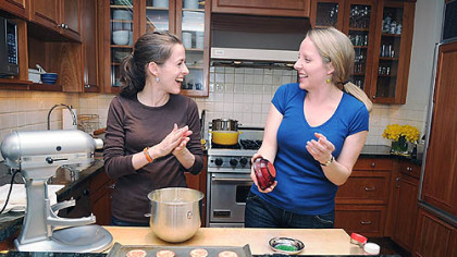 Amanda Hesser, left, and Merrill Stubbs of Food52.com.