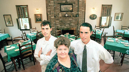 Owners of Clifford&#039;s restaurant near Evans City are, from left, Jesse, Valerie and John Enslen.