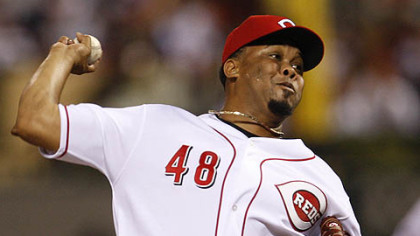 Francisco Cordero of the Reds pitches during the seventh inning.