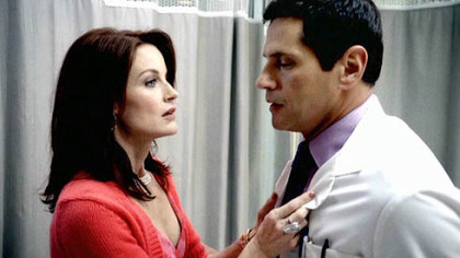 Laura Leighton as Sidney, Thomas Callabro as Dr. Michael Mancini.