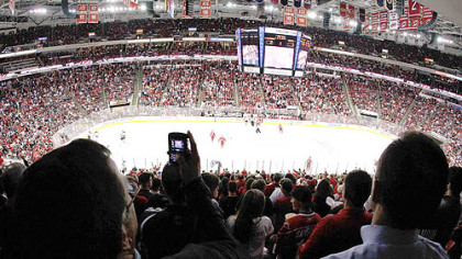 The Carolina Hurricanes' RBC Center is considered to be one of the loudest venues for visiting teams.