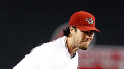 Diamondbacks pitcher Dan Haren throws in the first inning.
