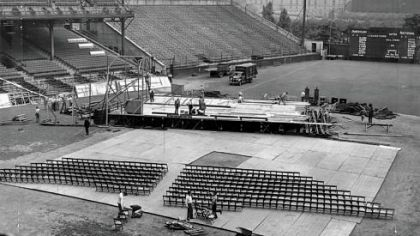 """Opera Under The Stars"" presentation of Aida at Forbes Field in 1943."