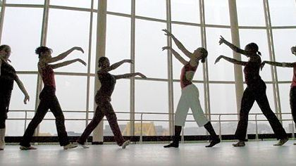 Pittsburgh CAPA students work on choreography.