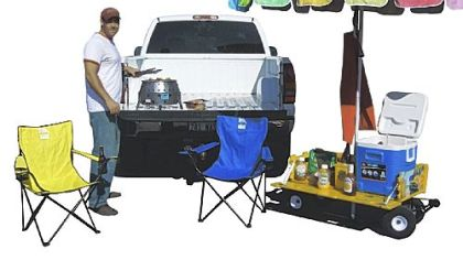 New Shade Wagon with tailgating package coming out in time for football season.