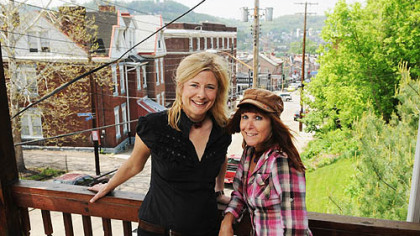 Good day, Lawrenceville: Tanya Andrea Stadelmann and Nicole Skeltys are rocking Pittsburgh as The Jilted Brides.