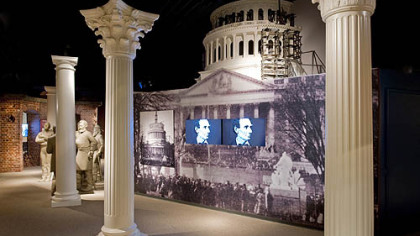 The unfinished capitol dome on display in the Ford's Theatre Museum.