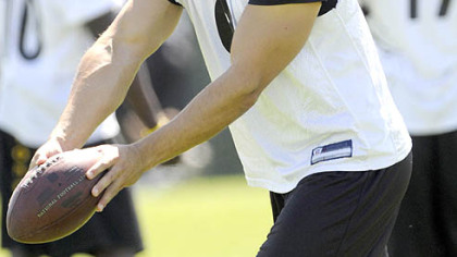 Steelers punter Daniel Sepulveda at practice in the Steelers' South Side facility earlier this week.