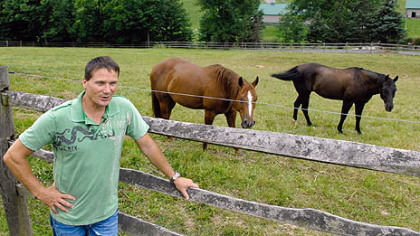 Dave Palone's family farm in Washington County keeps him more than busy when not in the driver's seat.
