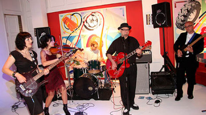 The Whips, a Pittsburgh band, provided the music for the ToonSeum's Ka-Blam!