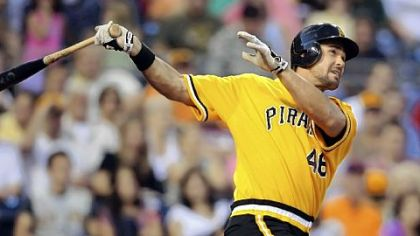Pirates outfielder/first baseman Garrett Jones has become a candidate for the National League's rookie of the year award.