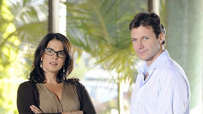 "Nora Skoff (Annabella Sciorra) and Dr. Jack Gallagher (Chris Vance) in ""Mental."""