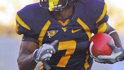 "West Virginia running back Noel Devine on the opening game of the season, ""It is a chance to set an impression."""