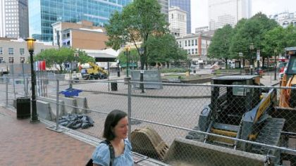 Market Square is closed for a $5 million reconstruction project.