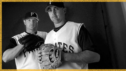Pirates Jack Wilson, right, and Freddy Sanchez