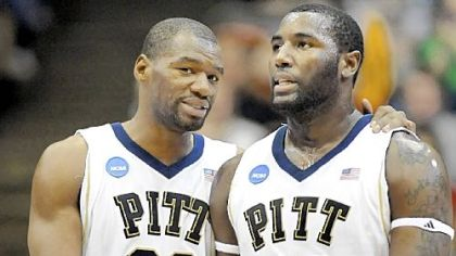Pitt stars Sam Young (No. 23) and DeJuan Blair slipped to the second round of the NBA draft.