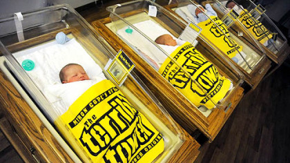 St. Clair hospital in Mt. Lebanon gave Terrible Towel blankets to all newborn infants in January 2008.