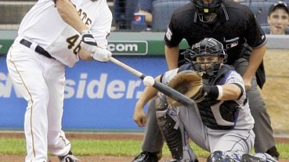 Pirates outfielder Garrett Jones could be a contender for the National League&#039;s rookie of the year award.