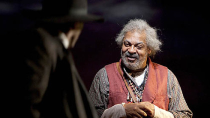 Roger Robinson (right) as the shaman Bynum in a scene from &quot;Joe Turner&#039;s Come and Gone.&quot;