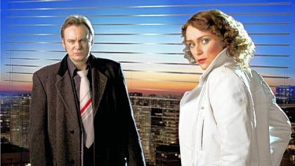 "Philip Glenister and Keeley Hawes star in ""Ashes to Ashes."""