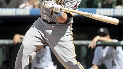 The Pirates dealt third baseman Eric Hinske to the Yankees yesterday.