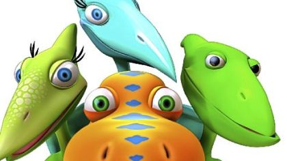 "Characters from the new PBS series ""Dinosaur Train."""