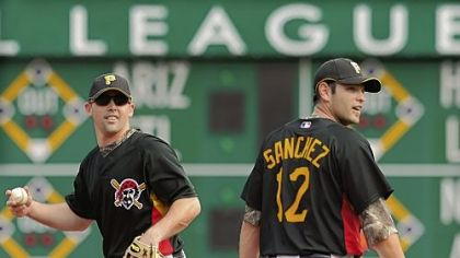 The Pirates have asked shortstop Jack Wilson, left, and second baseman Freddy Sanchez to take pay cuts.