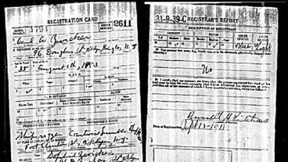 This draft registration card helped Cary Christopher identify his great-grandfather.
