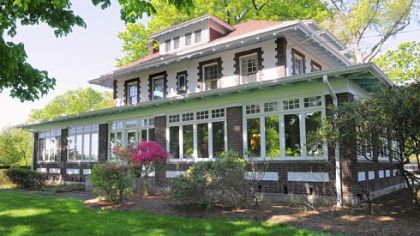 The Craftsman-style home built by Sebastian Mueller in 1912 is now used for retreats by Chatham University faculty, students and staff.