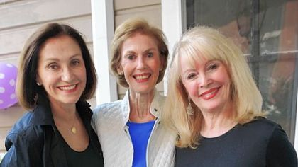 Judy Linaburg, left,  Jeanne Pleva, and Joyce Sterling, right, Jeanne Pleva and Joyce Osterling hold a photo of them from a Pittsburgh Press Sunday Roto magazine shoot in 1976.