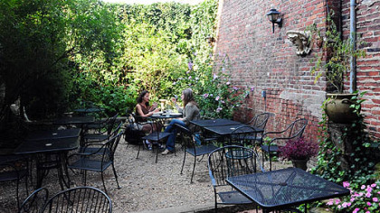 Cafe Du Jour's patio.