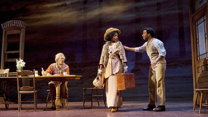 From left: Roger Robinson, Aunjanue Ellis and Andre Holland in a scene from &quot;Joe Turner&#039;s Come and Gone.&quot;