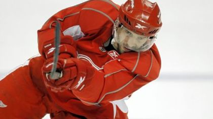 Pavel Datsyuk practices yesterday in Detroit and is expected to play tonight in Game 6 tonight at Mellon Arena.