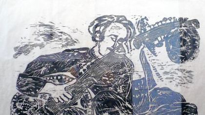 &quot;Ravi Shankar&quot; is exhibited in &quot;Matsubara: Illuminations&quot; at the Chatham University Gallery.
