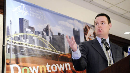 Mayor Luke Ravenstahl describes a $5 million plan to remake Downtown's Market Square into a more pedestrian-friendly area.