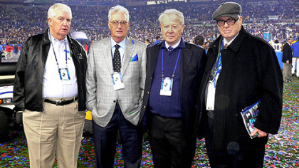 Pat, John, Tim and Art Jr. at Super Bowl XLIII in Tampa, Fla.