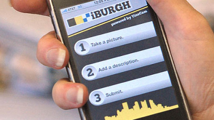 "The ""iBurgh"" application for the iPhone lets citizens send complaints to the city."