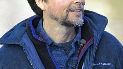 Filmmaker Ken Burns at Montana's Glacier National Park in July 2008.
